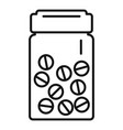 antibiotic pills icon outline style vector image vector image