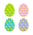 baby chick pattern eggs vector image vector image