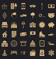 big villa icons set simple style vector image vector image
