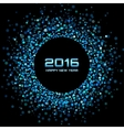 Blue Bright New Year 2016 Background vector image vector image