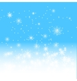blue winter background vector image vector image