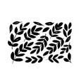 brush branches with long leaves collection vector image
