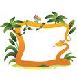 cartoon frame snake on white background vector image vector image