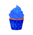 cartoon style of sweet cupcake vector image vector image