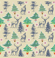 christmas pattern winter holidays seamless pattern vector image vector image
