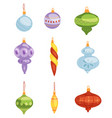 christmas tree toys decorations balls vector image vector image