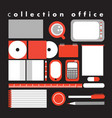 collection office vector image vector image