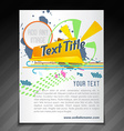 colorful brochure design vector image