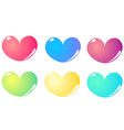 Colorful hearts set isolated on white vector image vector image