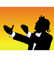 conductor silhouette vector image vector image