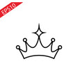 crown line icon on white background vector image