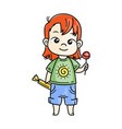 cute cartoon kids and vector image vector image