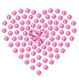 diamonds heart love jewelry the image for a vector image