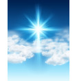 easter background with light and cross rays vector image vector image