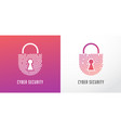 fingerprint scan logo privacy lock icon cyber vector image
