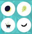 Flat icon festival set of phantom crescent magic