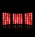 floodlight of stadium on a dark background vector image vector image