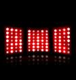 floodlight of stadium on a dark background vector image