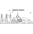 germany munich architecture line skyline vector image vector image