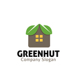 Green Hut Design vector image vector image
