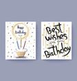 happy birthday best wishes congratulation postcard vector image vector image
