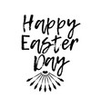 happy easter day label font with brush easter day vector image