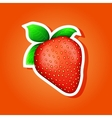 Icon strawberry strawberry sticker vector image vector image