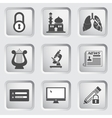 Icons on the buttons for Web Design Set 10 vector image vector image