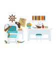 interior of boy room vector image