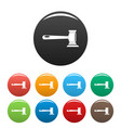 justice icons set color vector image vector image