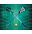 Lacrosse Tourney Bracket vector image vector image