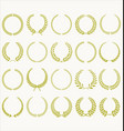 laurel wreath green collection vector image