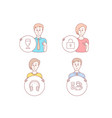lock beer glass and headphones icons opinion vector image
