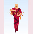 man wearing dog mask in traditional kimono china vector image vector image
