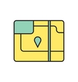 map icon Eps10 vector image