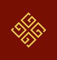 monogram g initial logo vector image vector image