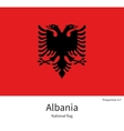 National flag of Albania with correct proportions vector image vector image