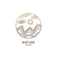nature linear logo vector image vector image