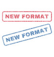 new format textile stamps vector image vector image