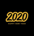 new year 2020 greeting card with calligraphy vector image vector image