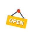 open sign flat icon vector image vector image