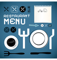 Restaurant Menu Template - Design Elements vector image