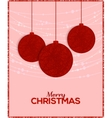Retro Christmas background with decorative balls vector image vector image