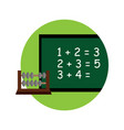 school board math cartoon graphic design vector image