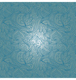 Seamless blue abstract hand-drawn waves pattern vector image vector image