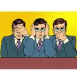 See hear say nothing to anyone business concep vector image vector image