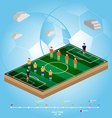 Soccer Football Playfield Side View vector image