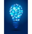 Social media idea concept light bulb vector image vector image