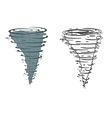 Tornado on a white background vector image vector image