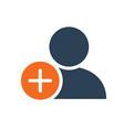 user profile with plus line icon add new friend